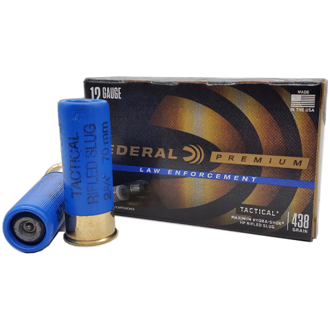 12 Gauge - Federal LEF127RS Maximum Hydra-Shok Rifled Slug