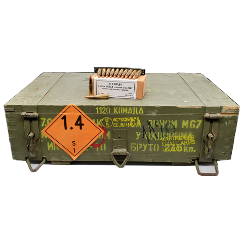 7.62x39 - 124 Grain Yugoslavian M67 FMJ Surplus Crate 1,120 Rounds