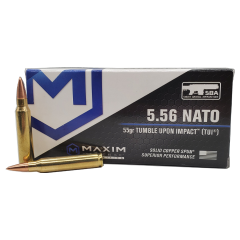 5.56 Nato - Maxim Defense 55 Grain TUI