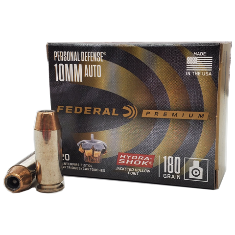 10mm - Federal Premium 180 Grain Hydra-Shok JHP