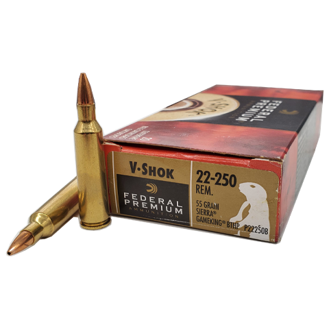 22-250 Rem - Federal Premium V-Shok 40 Grain Sierra Gameking