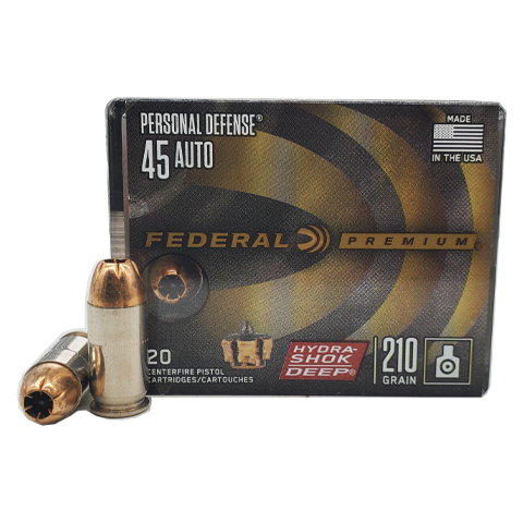 45 Auto - Federal Hydra-Shok Deep 210 Grain Personal Defense