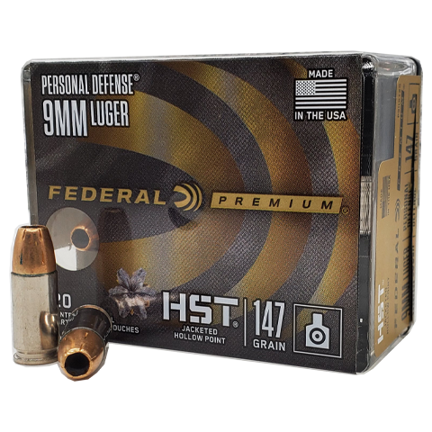 9mm - Federal Premium Personal Defense 147 Grain HST
