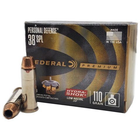 38 Special - Federal 110 Grain Low Recoil Hydra-Shok JHP