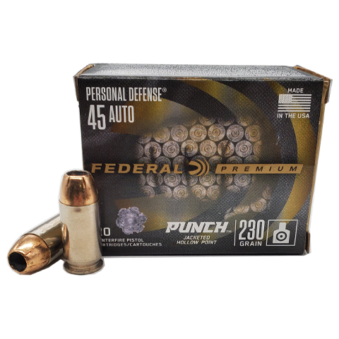 45 Auto - Federal Personal Defense 230 Grain Punch JHP