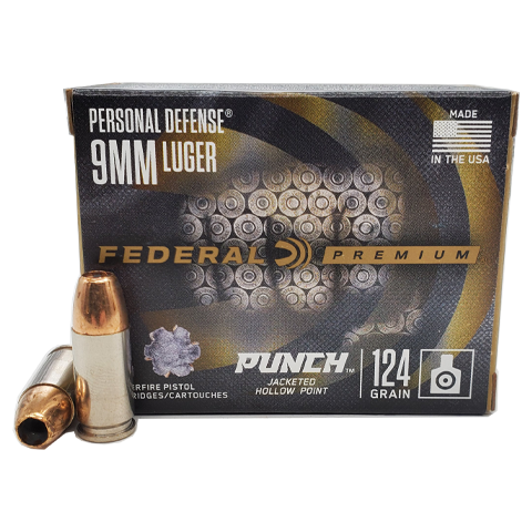 9mm - Federal Personal Defense 124 Grain Punch JHP