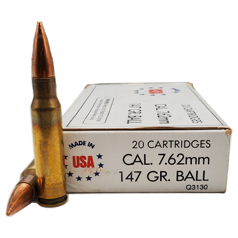 7.62x51 nato - Winchester USA 147 Grain FMJ (Old Stock)