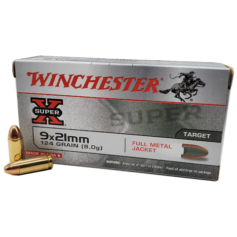 9x21 - Winchester Super-X 124 Grain Full Metal jacket