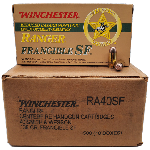 40 S&W - Winchester Ranger 135 Grain Frangible SF Lead Free Case
