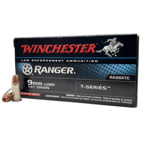 9mm - Winchester Ranger 147 Grain T-Series JHP