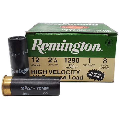 "12 Gauge - Remington HV All Purpose Load 2-3/4"" #8 Shot"