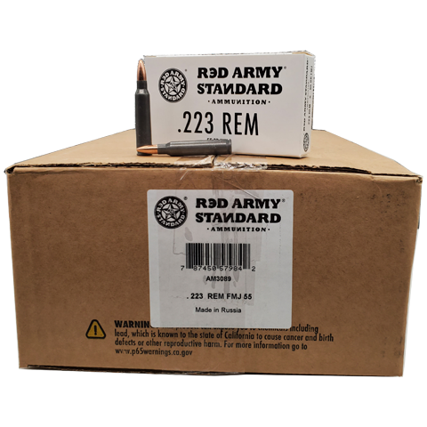 223 Rem - Red Army Standard Steel Case 55 Grain FMJ Case