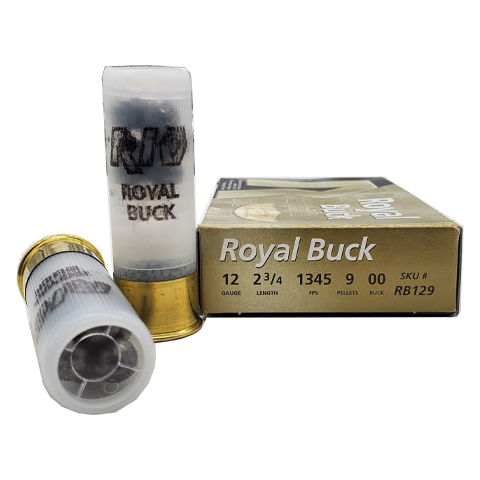 "12 gauge - RIO 2-3/4"" Royal Buck 9 Pellet 00"