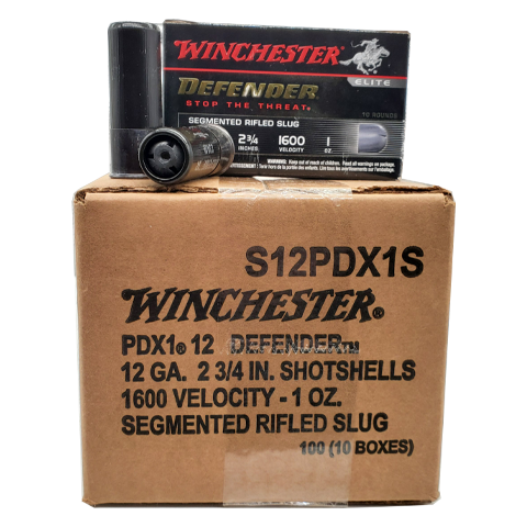 "12 Gauge - Winchester 2-3/4"" PDX1 Defender Slug Case"