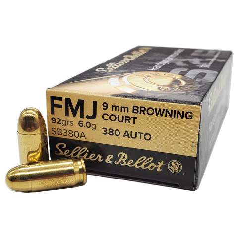 380 Auto - Sellier & Bellot 92 Grain FMJ
