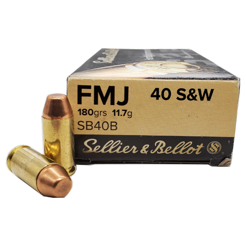 40 S&W  - Sellier & Bellot 180 Grain FMJ