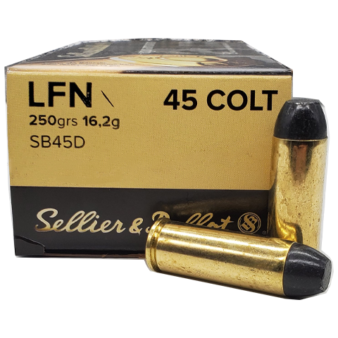 45 Colt - S&B 250 Grain Lead Flat Nose