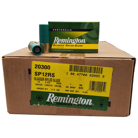 "12 Gauge - Remington Slugger 2-3/4"" Rifled 1oz Slug Case"