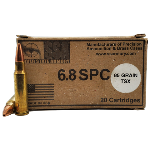 6.8 SPC - Silver State Armory 85 grain TSX Hollow Point