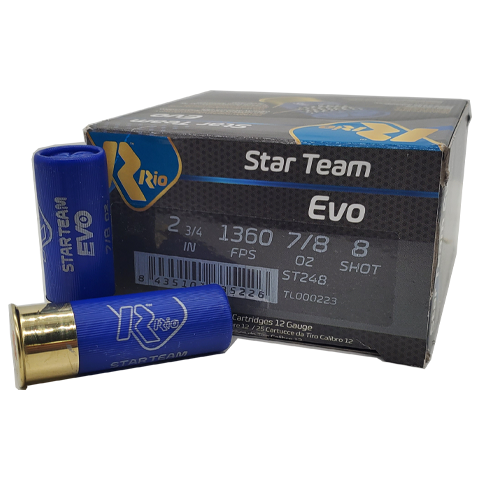 "12 Gauge - Rio Star Team Evo 2-3/4"" #8 Shot"
