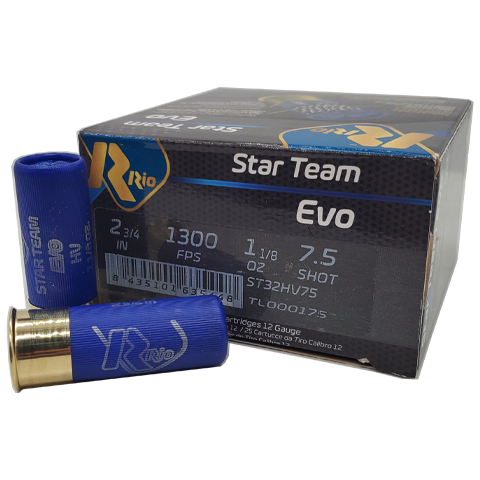 "12 Gauge - Rio Star Team Evo 2-3/4"" #7.5 Shot High Velocity"