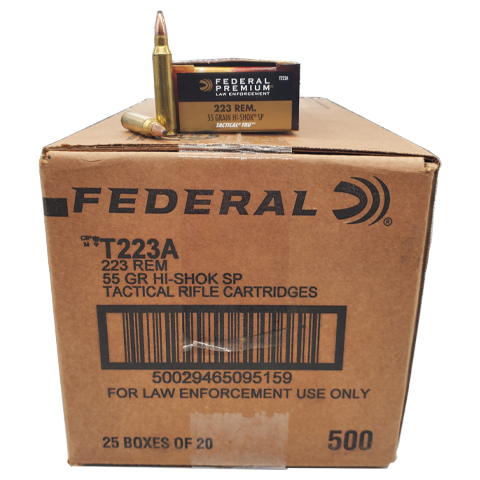 223 Rem - Federal Tactical TRU 55 Grain Hi-Shok Soft Point Case