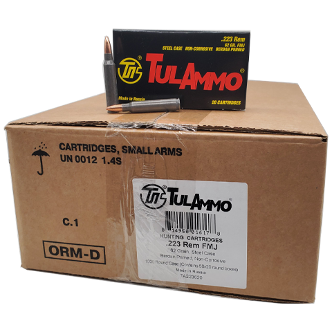 223 Rem - TulAmmo 62 Grain FMJ 1000 Rounds Steel Case