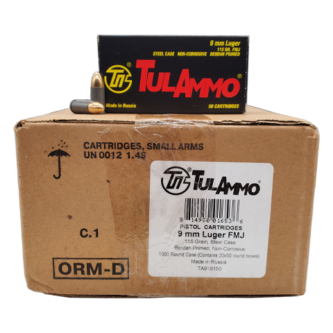 9mm - TulAmmo 115 Grain 1000 Round Case