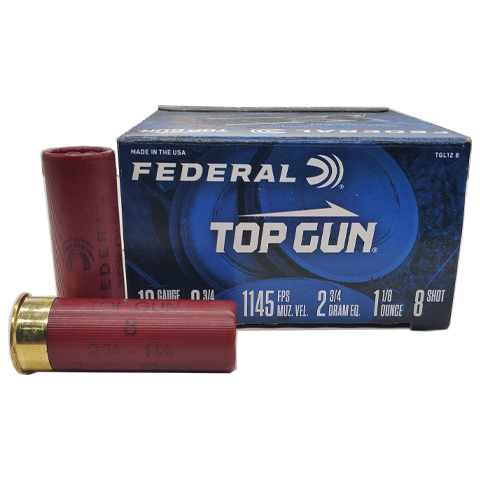 "12 Gauge - Federal 2-3/4"" Top Gun #8 Shot"