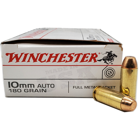 10mm - Winchester USA 180 Grain FMJ