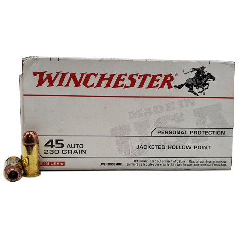 45 Auto - Winchester 230 Grain Jacketed Hollow Point