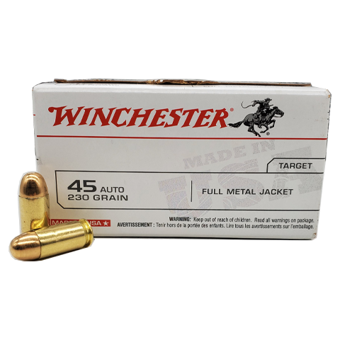 45 Auto - Winchester 230 Grain FMJ Value Pack