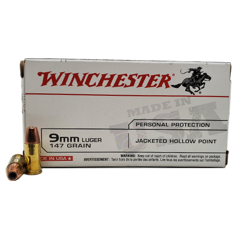 9mm - Winchester 147 Grain Jacketed Hollow Point