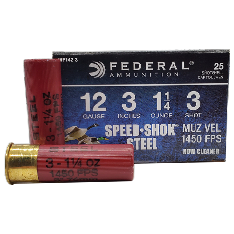 "12 Gauge - Federal 3"" Steel Speed-Shok #3 Shot"