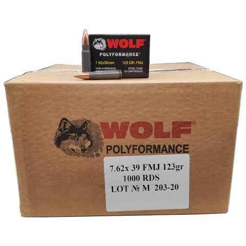 7.62x39 - Wolf Polyformance 123 Grain FMJ Case