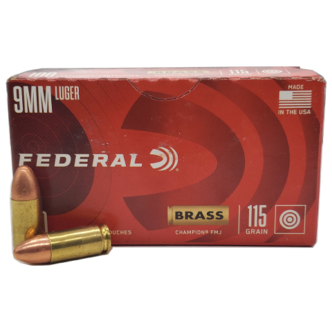 9mm - Federal Champion 115 Grain FMJ Value Pack