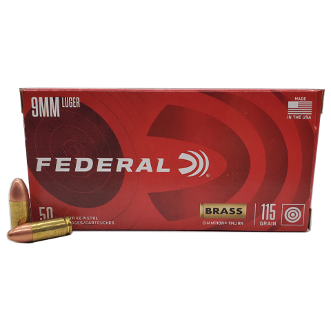 9mm - Federal USA 115 Grain Full Metal Jacket