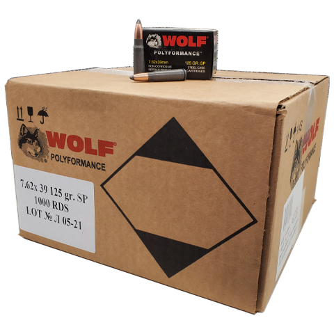 7.62x39 - Wolf Polyformance 125 Grain SP Steel Case