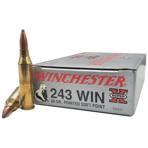 243 Win - Winchester Super-X 80 Grain Pointed Soft Point