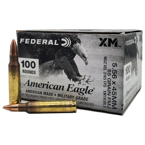 5.56 Nato - Federal American Eagle 55 Grain FMJ Value Pack