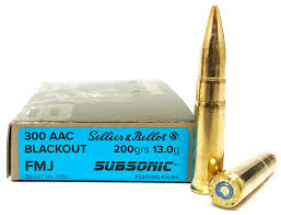 300 Blackout - Sellier & Bellot 200 Grain FMJ Subsonic