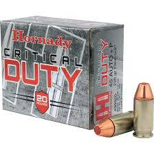45 Auto - Hornady Critical Duty 220 Grain +P Flex Lock JHP