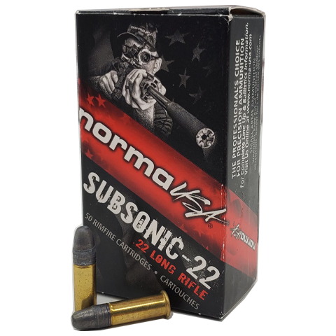22 Long Rifle - Norma Tac-22 Subsonic 40 Grain LHP