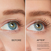 Before and after image of model with a 17 degree increase in the natural curl of her lashes after using RevitaLash Advanced. Disclaimer: The Curl Effect is from using RevitaLash Advanced Eyelash Conditioner for 6 months. Individual results may vary.
