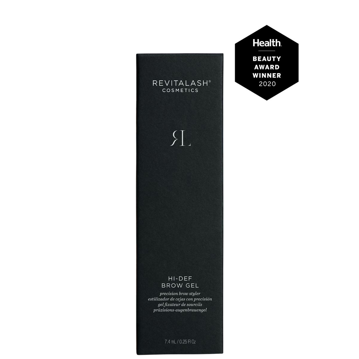 Image of Hi-Def Brow Gel box with 2020 Health Beauty Award Seal