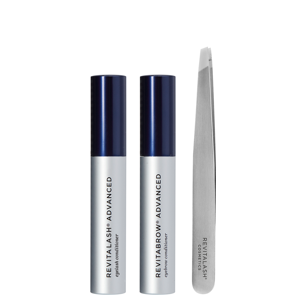 Image of RevitaLash Advanced, RevitaBrow Advanced, and Precision Tweezers