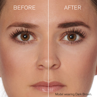 Image of model before and after using Hi-Def Brow Gel