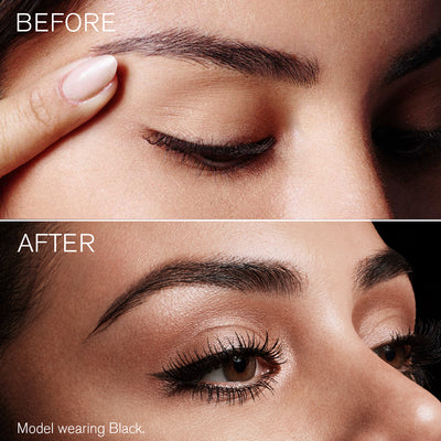 Image of model before and after using Defining Liner Eyeliner