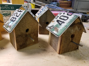 Rustic License Plate Bird House