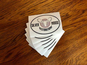 Silver Moose Sticker